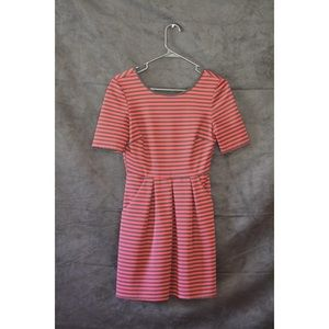 Speechless Crimson Red Striped Dress w/ pockets